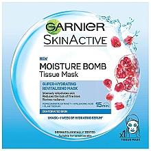 Kup Nawilżająca maska w płacie do twarzy z ekstraktem z granatu - Garnier Skin Active Pomegranate Moisture Bomb Eye Tissue Mask