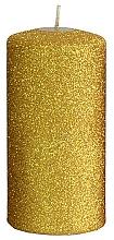 Kup Świeca dekoracyjna, złoty walec, 7 x 14 cm - Artman Glamour