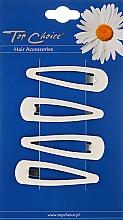 Kup Spinki do włosów 4 sztuki, białe - Top Choice