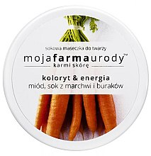 Kup Sokowa maseczka do twarzy, koloryt i energia, sok z buraków i marchwi z dodatkiem miodu - Moja Farma Urody