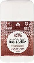 Kup Dezodorant na bazie sody w sztyfcie Północny las - Ben & Anna Natural Soda Deodorant Nordic Timber
