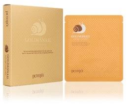 Kup Nawilżająca dwuczęściowa maska hydrożelowa do twarzy w płachcie - Petitfee & Koelf Gold & Snail Hydrogel Mask Pack