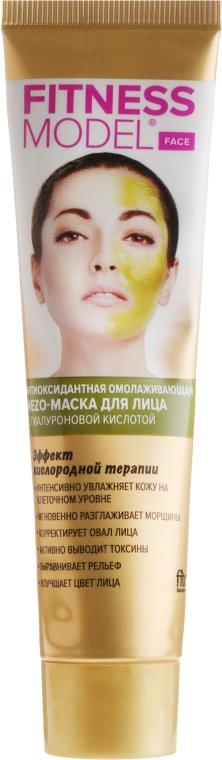 Antyoksydacyjna mezo-maska odmładzająca do twarzy z kwasem hialuronowym - FitoKosmetik Hair Fitness Model — фото N2