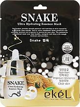 Kup Maska na tkaninie do twarzy przeciwzmarszczkowa z peptydem z węża - Ekel Snake Ultra Hydrating Essence Mask
