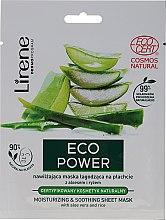 Kup Nawilżająca maska łagodząca na płachcie z aloesem i ryżem - Lirene Eco Power Moisturizing and Soothing Sheet Mask