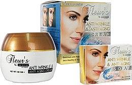 Kup Zestaw - Hemani Fleurs Anti Wrinkle Set (f/cr/80ml + soap/30ml)