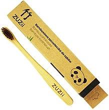 Kup Bambusowa szczoteczka do zębów dla dzieci z miękkim włosiem, brązowa - Zuzii Kids Soft Toothbrush