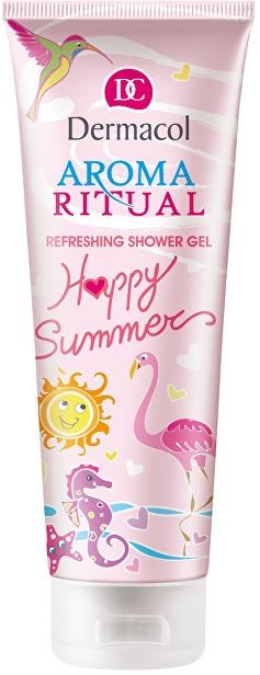 Odświeżający żel pod prysznic Wanilia i morela - Dermacol Aroma Ritual Happy Summer — фото N1