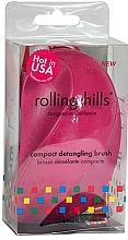 Kup Kompaktowa szczotka do włosów, różowa - Rolling Hills Compact Detangling Brush Fuschia