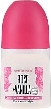 Kup Naturalny dezodorant w kulce Róża i wanilia - Schmidt's Rose + Vanille Deo Roll-On