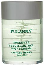 Kup Krem do twarzy regulujący wydzielanie sebum z ekstraktem z zielonej herbaty - Pulanna Green Tea Sebum Control Night Cream
