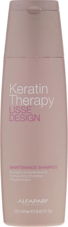 Szampon do włosów po keratynowym prostowaniu - Alfaparf Lisse Design Keratin Therapy Maintenance Shampoo