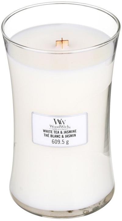 Świeca zapachowa w szkle - WoodWick Hourglass Candle White Tea & Jasmine — фото N2