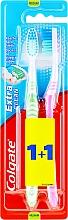 Kup Szczoteczki do zębów o sredniej twardości, różowa + zielona - Colgate Extra Clean Medium