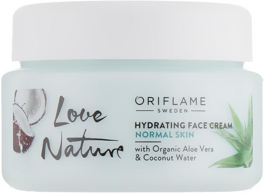 Nawilżający krem do twarzy z organicznym aloesem i wodą kokosową - Oriflame Love Nature Hydrating Face Cream — фото N1