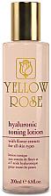 Kup Tonizujący balsam do twarzy z kwasem hialuronowym - Yellow Rose Hyaluronic Toning Lotion