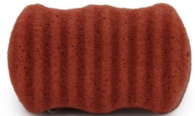 Gąbka konjac do twarzy i ciała z czerwoną glinką - Bebevisa Konjac Sponge — фото N1
