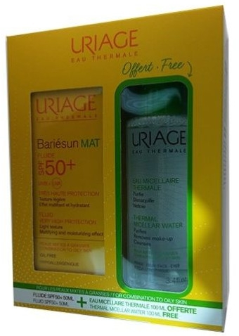 Zestaw - Uriage Bariesun (fluid 50ml + micel 100 ml) — фото N1