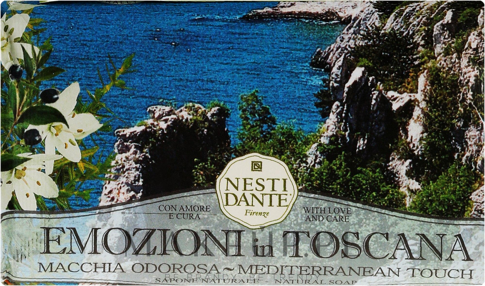 Naturalne mydło w kostce Śródziemnomorski dotyk - Nesti Dante Emozioni In Toscana Macchia Odorosa — фото 250 g