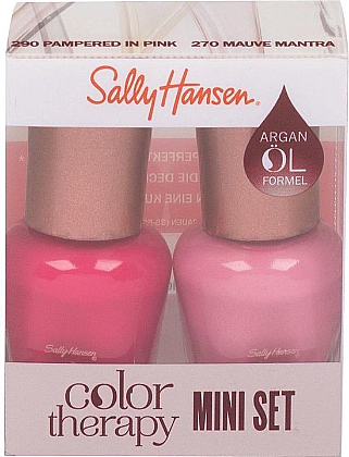 Zestaw - Sally Hansen Color Therapy Nail Polish Mini Set (nail/polish/2x5ml) — фото N1
