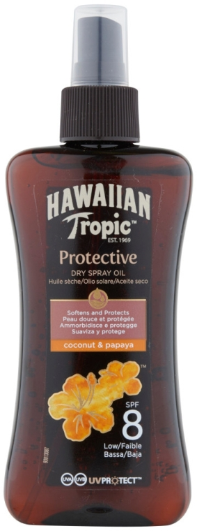 Suchy olejek ochronny do opalania - Hawaiian Tropic Protective Dry Oil Spray SPF 8  — фото N1