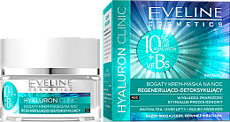 Kup Regenerująco-detoksykujący bogaty krem-maska na noc - Eveline Cosmetics Hyaluron Clinic