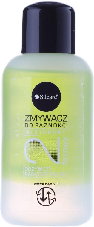 Acetonowy nabłyszczający zmywacz do paznokci - Silcare — фото N1