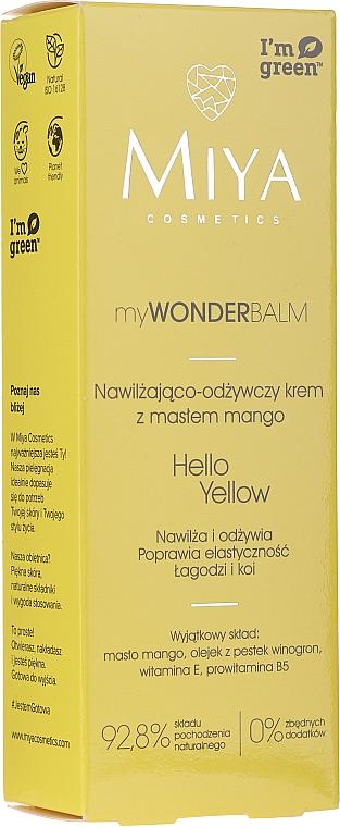 Nawilżająco-odżywczy krem do twarzy z masłem mango - Miya Cosmetics My Wonder Balm Hello Yellow Face Cream