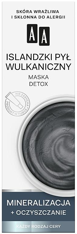 Detoksykująca maska Islandzki pył wulkaniczny - AA Color Detox Face Mask — фото N1