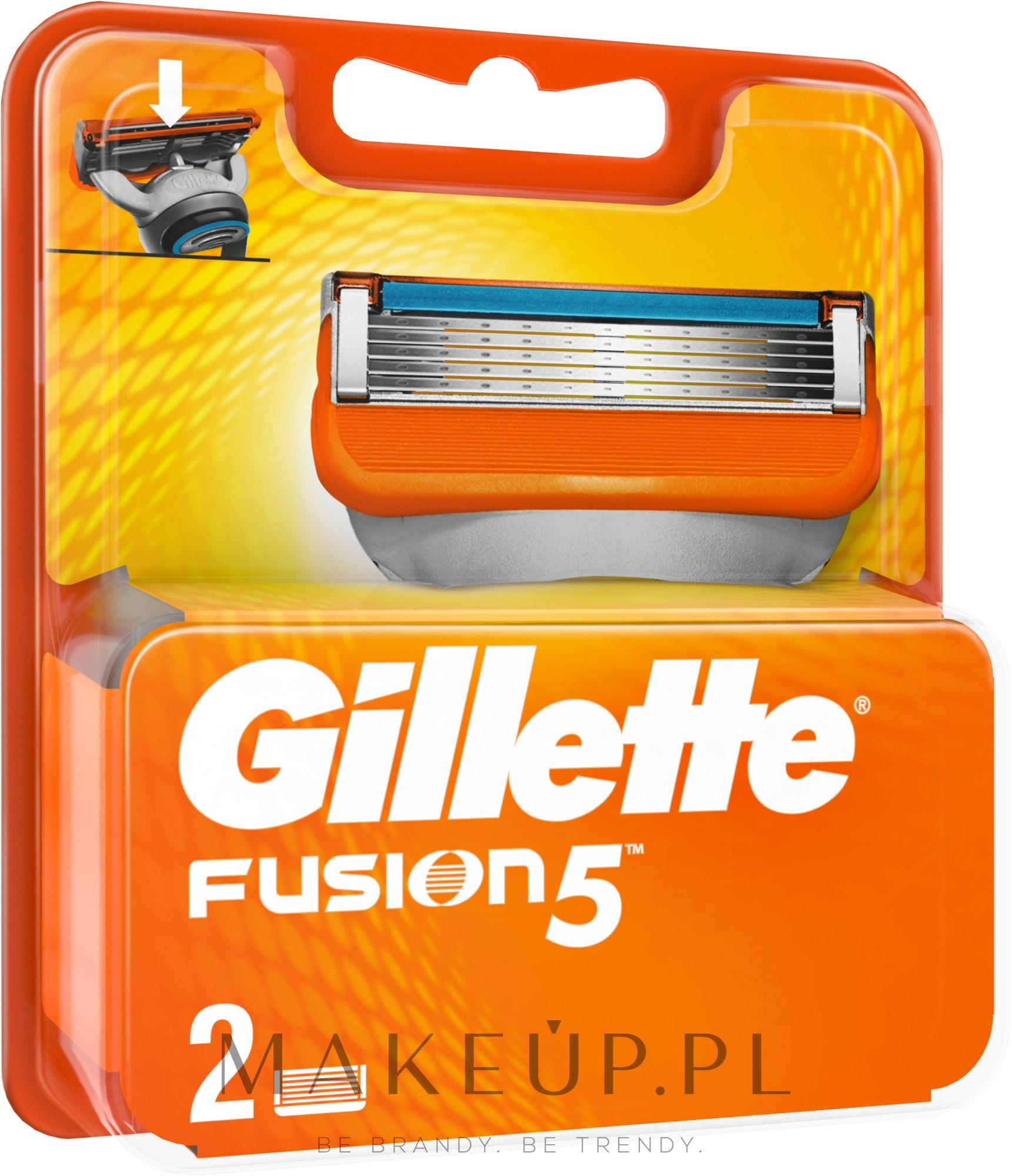 Wymienne wkłady do maszynki, 2 szt. - Gillette Fusion — фото 2 szt.