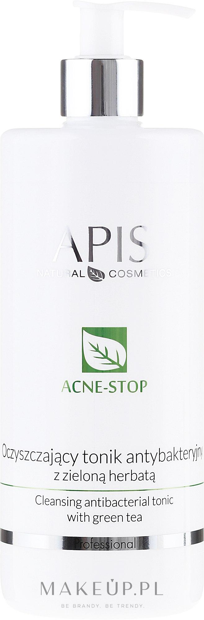 Oczyszczający tonik antybakteryjny z zieloną herbatą - APIS Professional Acne-Stop — фото 500 ml