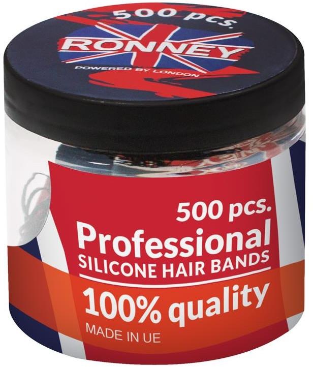 Silikonowe gumki do włosów, przezroczyste - Ronney Professional Silicone Hair Bands