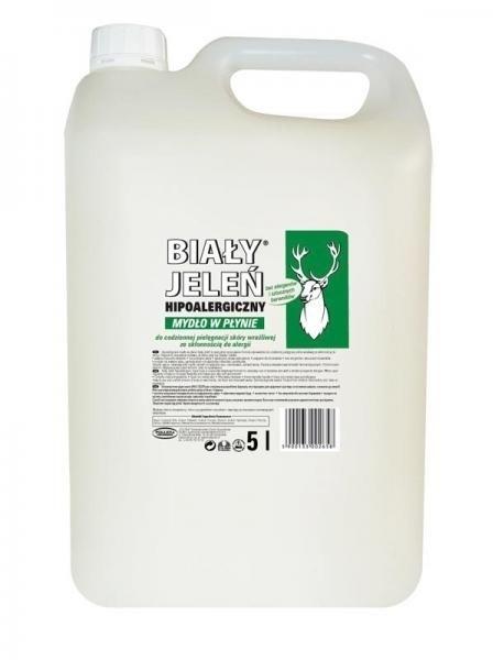 Hipoalergiczne mydło w płynie do skóry wrażliwej - Biały Jeleń (uzupełnienie) — фото N4