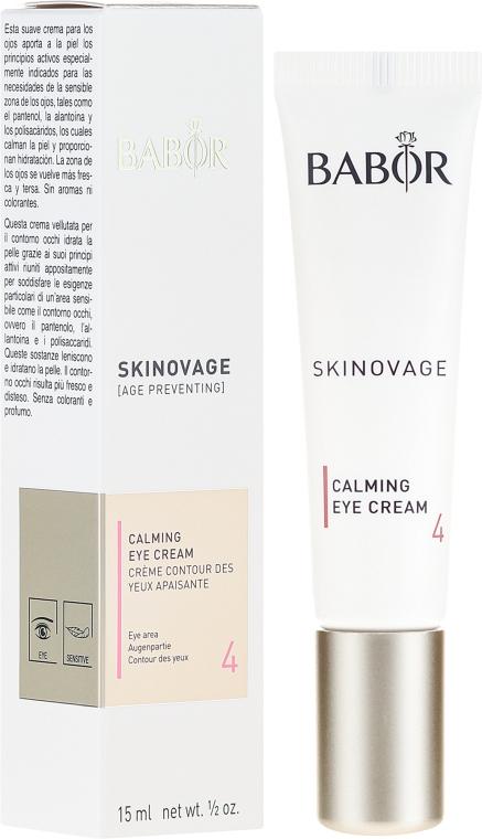 Krem do wrażliwej skóry powiek - Babor Skinovage Calming Eye Cream — фото N1