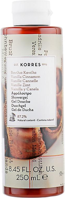 Żel pod prysznic Wanilia i cynamon - Korres Vanilla Cinnamon Shower Gel — фото N1