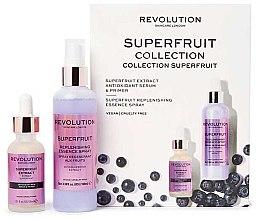 Kup Zestaw intensywnie nawilżający do pielęgnacji twarzy - Revolution Skincare Superfruit Serum&Spritz Set (spray/100ml+serum/30ml)