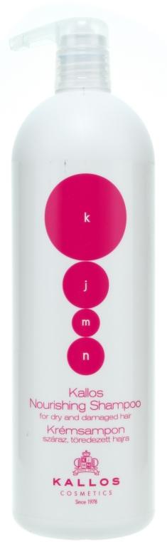 Kremowy szampon odżywczy do włosów suchych i łamliwych - Kallos Cosmetics Nourishing Shampoo For Dry And Damaged Hair — фото N2