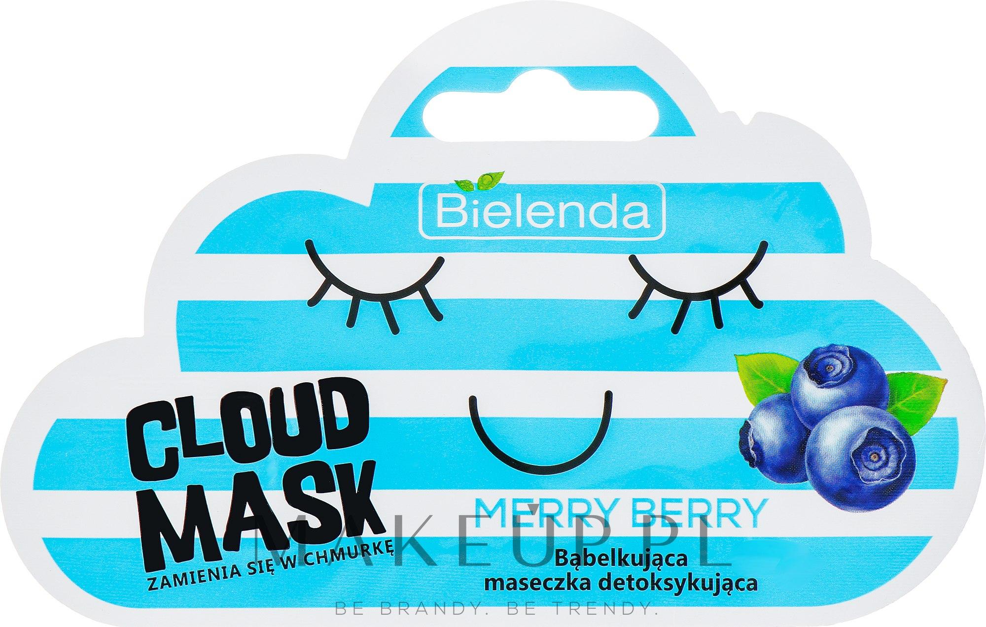 Bąbelkująca maseczka detoksykująca do twarzy Merry Berry - Bielenda Cloud Mask — фото 6 g