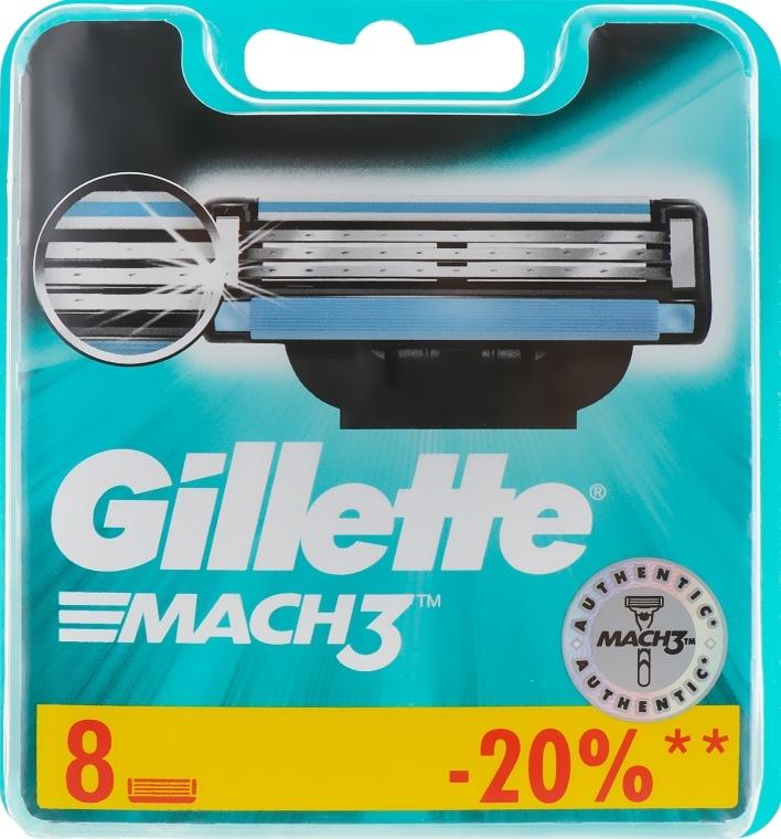 Wymienne wkłady do maszynki, 8 szt. - Gillette Mach3 — фото N2