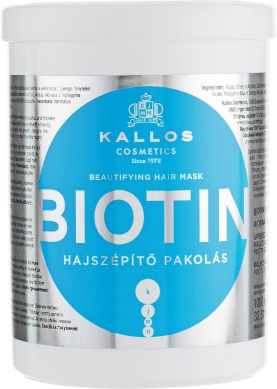 Upiększająca maska na porost włosów - Kallos Cosmetics Biotin Beautifying Hair Mask — фото N3