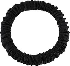 Kup Cienka gumka-scrunchie do włosów z naturalnego jedwabiu, czarna Skinny - Makeup