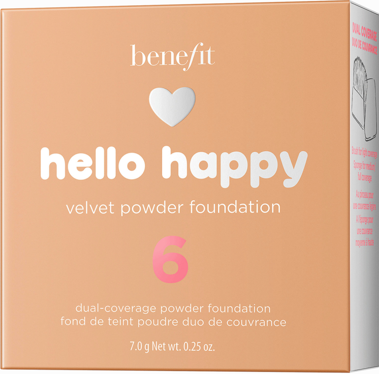 Podkład w pudrze do twarzy - Benefit Hello Happy Velvet Powder Foundation — фото N8