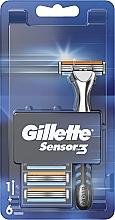 Kup Golarka z 6 wymiennymi wkładami - Gillette Sensor 3