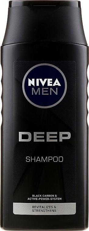 Szampon - Nivea Men Deep Revitalizing Hair & Scalp Clean Shampoo — фото N1