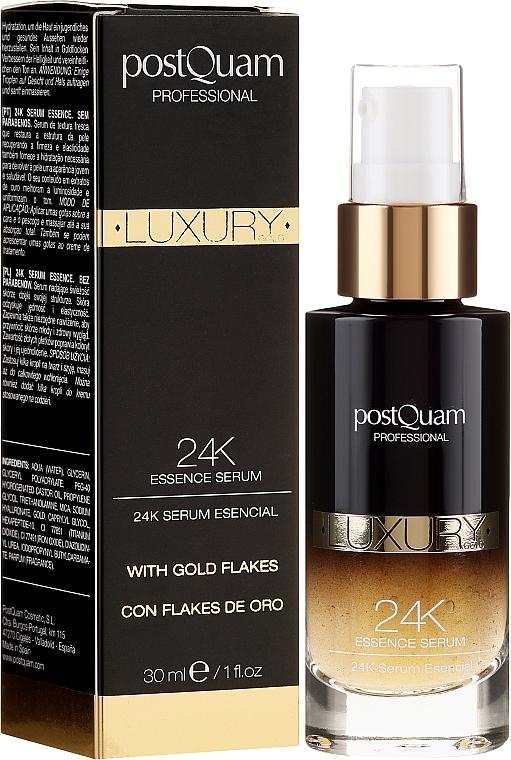 Skoncentrowane serum do twarzy ze złotem - PostQuam Luxury Gold 24k Essence Serum — фото N1