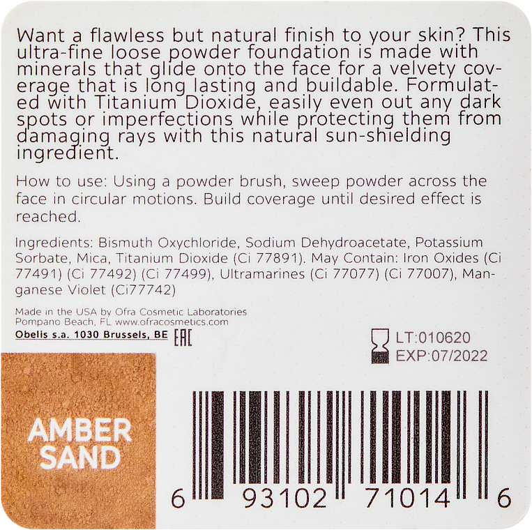 PRZECENA! Mineralny puder sypki do twarzy - Ofra Derma Mineral Powder Foundation * — фото N2