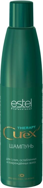 Nawilżający szampon do włosów suchych, osłabionych i zniszczonych włosów - Estel Professional Curex Therapy Shampoo