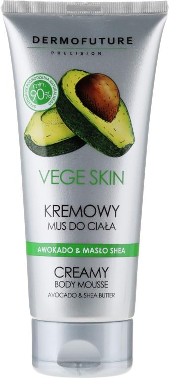 Kremowy mus do ciała Awokado i masło shea - DermoFuture Vege Skin Creamy Body Mousse Avocado & Shea Butter