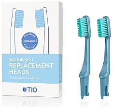 Kup Wymienne końcówki do szczoteczki do zębów, średnia twardość, niebieskie - TIO Toothbrush Medium