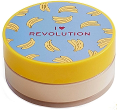 Sypki puder bananowy do twarzy - I Heart Revolution Loose Baking Powder Banana — фото N1